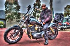 Classic American Harley Davidson Royalty Free Stock Photo