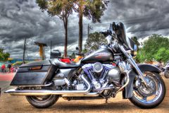 Classic American Harley Davidson motorcycle Stock Photo