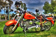 Classic American Harley Davidson motorcycle Stock Images