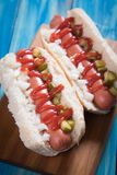 Classic american hot dog Stock Photos