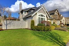 Classic American house during spring. Stock Images