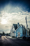 Classic American house in the sunset Stock Photography