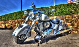 Classic American Indian motorcycle Stock Photography