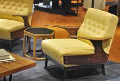 Classic American Mid Century arm chair royalty free stock images