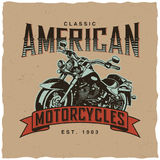 Classic American Motorcycles Poster Stock Photography