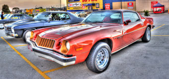 Classic American muscle car Stock Images