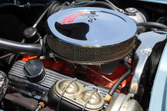Classic american muscle car engine Stock Photos