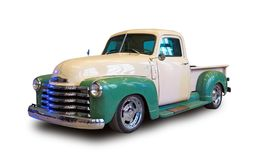 Classic american pickup truck. White background. Classic american pickup truck Chevrolet Thriftmaster isolated on white background stock photography