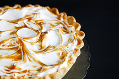 Classic american pumpkin pie with burned meringue Royalty Free Stock Photo