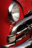 Classic american red car. Close up to a classic american red car Stock Images