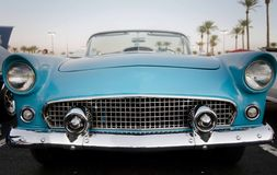 Classic American restored car. Front view of classic American restored car Stock Photo