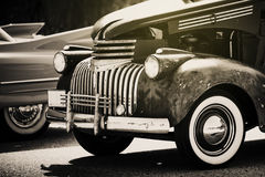 Classic american 50's car. Hot rod style. Royalty Free Stock Images
