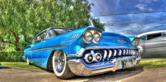 Classic American 1950s Chevrolet car Royalty Free Stock Photo