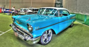 Classic American 1950s Chevy Bel Air Royalty Free Stock Images
