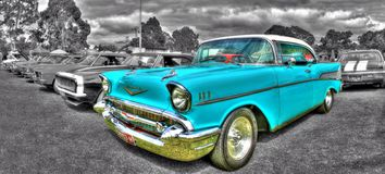 Classic American 1950s Chevy Stock Photography