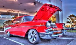 Classic American 1950s Chevy Chevelle. Classic 1950s American red Chevy Royalty Free Stock Photography