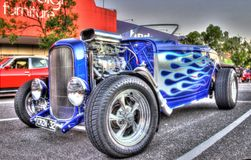Classic American 1930s Ford hot rod Stock Photos