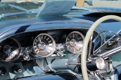 Classic american sports car interior Royalty Free Stock Photo