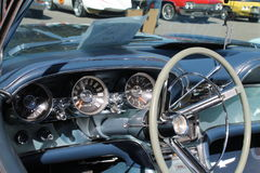 Classic american sports car interior Stock Photography