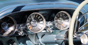 Classic american sports car interior Royalty Free Stock Image