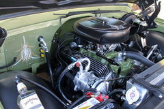 Classic american truck engine Stock Images