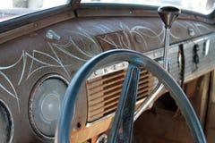 Classic american truck interior Stock Photo
