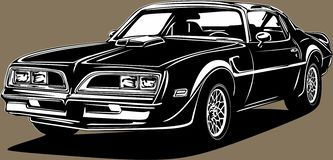 Free Classic American Vintage Retro Icon Of Muscle Car Pontiac Stock Photography - 158960182