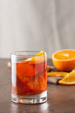 Classic americano cocktail on wooden table Stock Photos