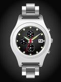 Classic Analog Men's Wrist Watch Stock Photo