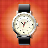 Classic Analog Men's Wrist Watch Stock Photography