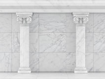 Classic Ancient Columns, Concept Interior Part. 3d illustration Royalty Free Stock Photography