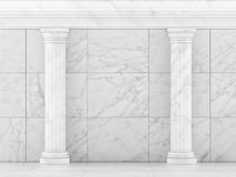 Classic Ancient Columns. Interior Concept Royalty Free Stock Photo