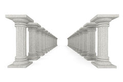 Classic Ancient Columns in row Royalty Free Stock Images