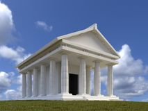 Classic ancient greek white temple royalty free stock photography
