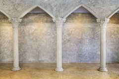 Classic Ancient Interior with Columns. Royalty Free Stock Images