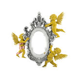 Classic angel frame. A decorative victorian angel frame Stock Photography