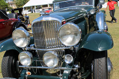Classic antique car front Royalty Free Stock Photography