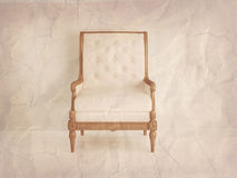 Classic antique chair, old paper style. Royalty Free Stock Photos