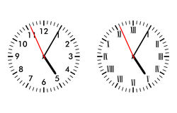 Classic and antique clock faces Stock Images