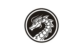 Dragon Badge Medallion Logo design inspiration. Classic, Antique, and easy to recognize. This is the right logo design for your company related to asia, asian Royalty Free Stock Image