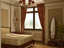 Classic antique style bedroom. Royalty Free Stock Photo