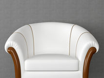 Classic Antique White Armchair Royalty Free Stock Photography