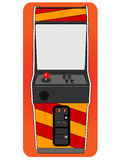 Classic arcade cabinet. Free standing old fashion gaming machine Royalty Free Stock Images