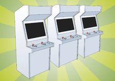 Classic arcade game machine Royalty Free Stock Images