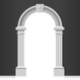 Classic arch. Illustration with black wall royalty free illustration