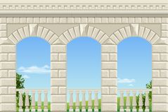 Classic arch of the palace Stock Photo