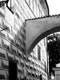 Classic architect arch in black and white. Shadow Stock Photography