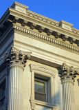 Classic architectural details. Historic United States Custom House, Charleston, South Carolina; built 1853 to 1879 Royalty Free Stock Images
