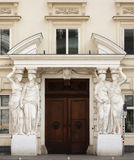 Classic architecture - entrance to a house of Vienna. Stock Photo