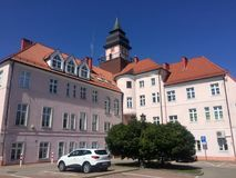 Ilawa Poland, Town hall building royalty free stock image